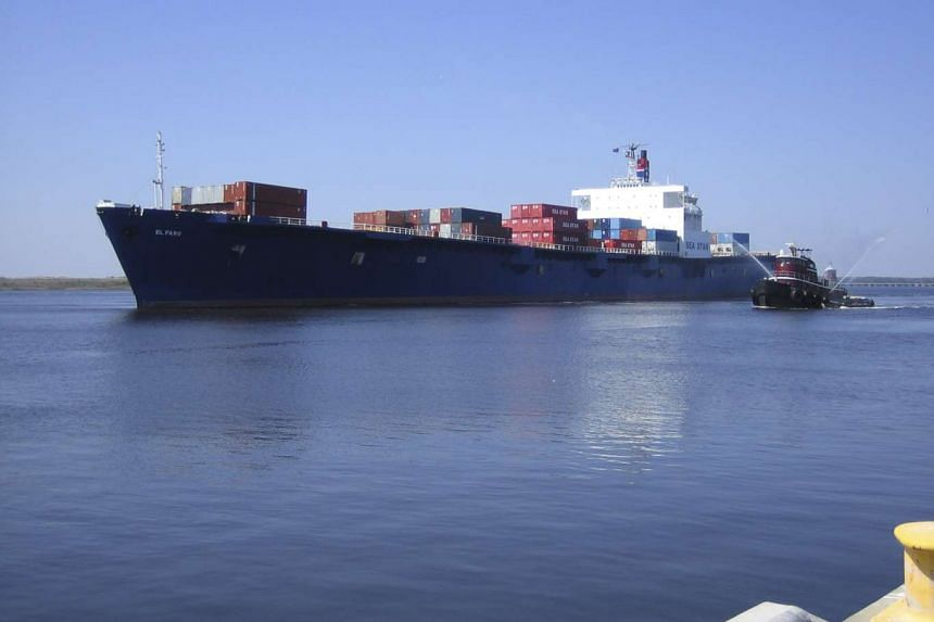 The El Faro is shown in this undated photo provided by Tote Maritime in Jacksonville, Florida, on Oct 2, 2015.