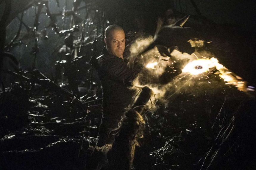 Vin Diesel as one- dimensional action hero Kaulder in The Last Witch Hunter.