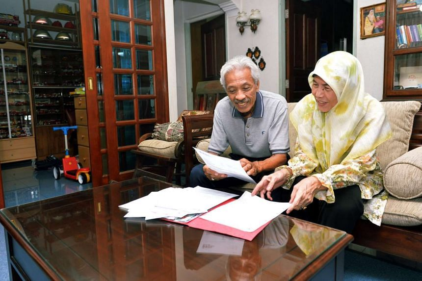 Mr Yunnos Shariff and his wife Madam Halimah who applied for the Lease BuyBack Scheme (LBS), at their four-room flat at Bukit Panjang Ring Road.