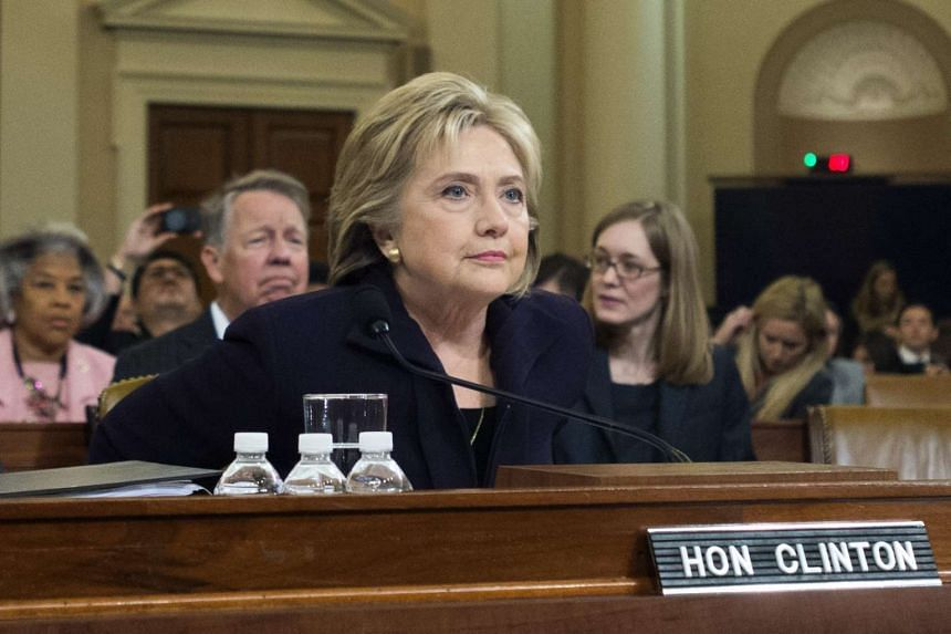 Former Secretary of State and Democratic Presidential candidate Hillary Clinton appears before the House Select Committee on Benghazi, on Capitol Hill in Washington DC, USA, Oct 22, 2015.