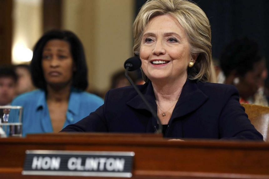Democratic presidential candidate Hillary Clinton testifies before the House Select Committee on Benghazi, on Capitol Hill in Washington Oct 22, 2015. The congressional committee is investigating the deadly 2012 attack on the U.S. diplomatic mission