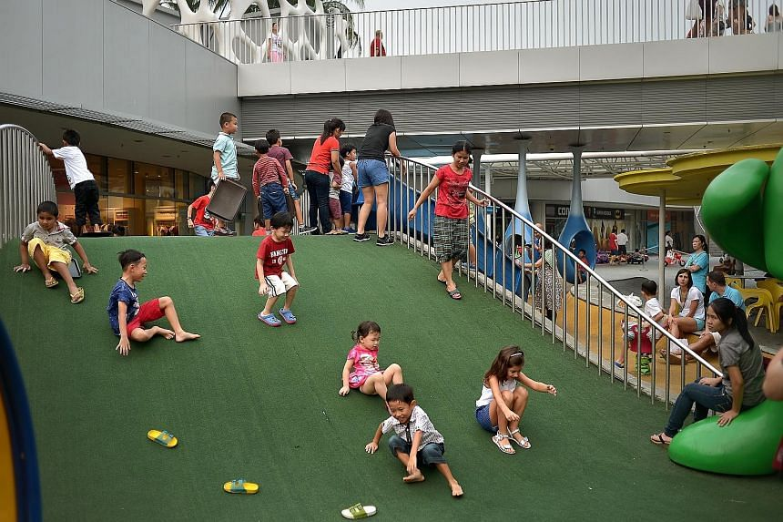 Revenue for VivoCity (left) was $2 million higher in the second quarter compared with a year ago, owing in part to higher rental income for new and replacement leases, such as from its new space at Basement 1.