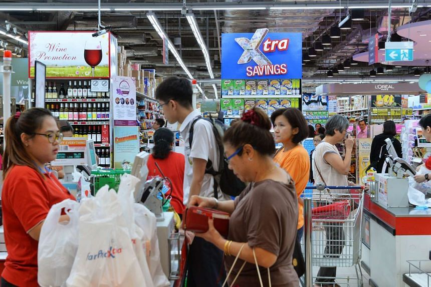 The NTUC FairPrice outlet at Nex mall in Serangoon on Oct 7, 2015.