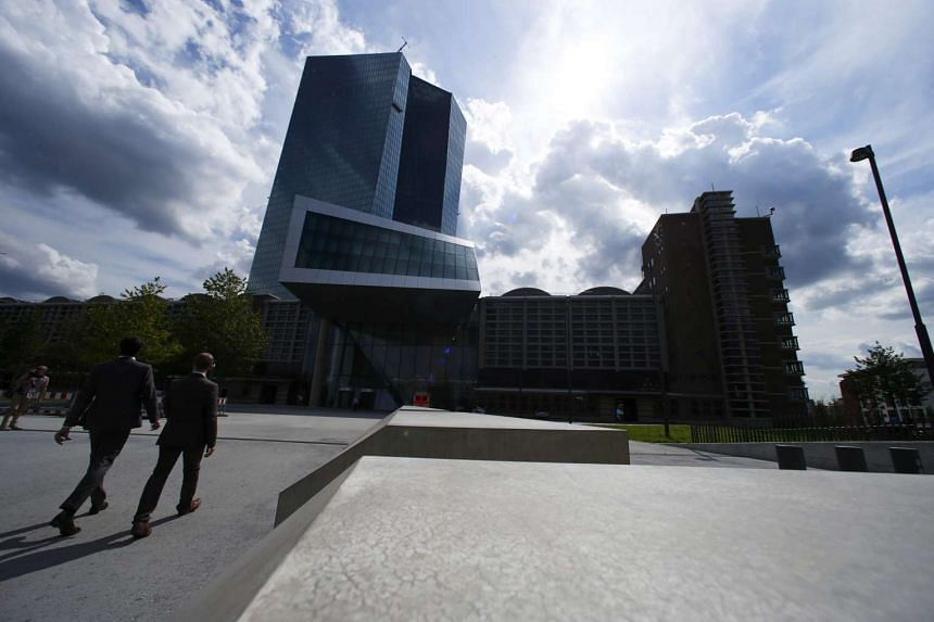 The European Central Bank headquarters pictured in Frankfurt, Germany, on Sept 3, 2015.