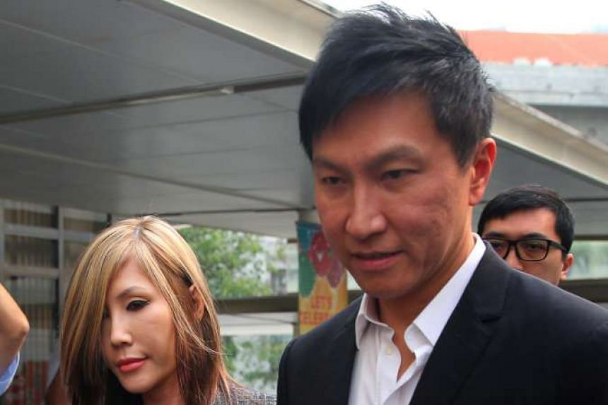 City Harvest Church (CHC) founder and senior pastor Kong Hee and his wife Ho Yeow Sun at the State Courts on Oct 21, 2015.