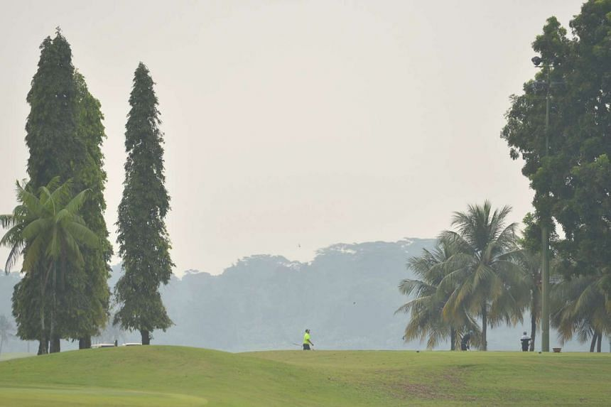 Haze is seen in Yishun on the morning of Oct 21, 2015.