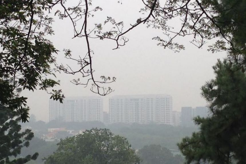 The Universiti Sains Malaysia campus in Penang's Gelugor town shrouded in haze.