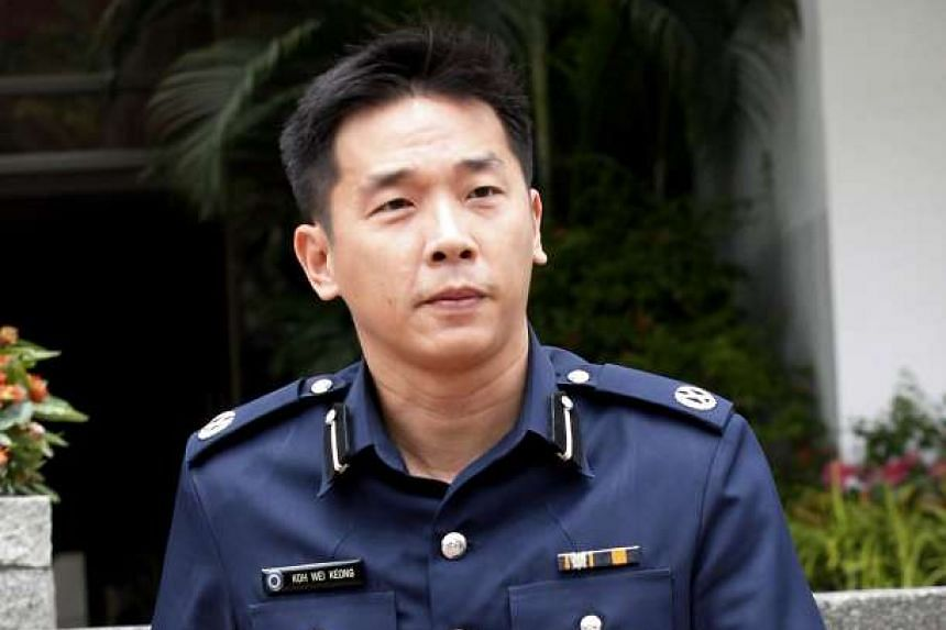 Deputy Assistant Commissioner (DAC) Koh Wei Keong, 44, took over from AC Lim, 43, at a change of command ceremony on Friday.