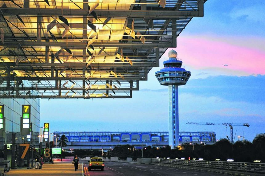 The arrival porch at Changi Airport's Terminal 3.