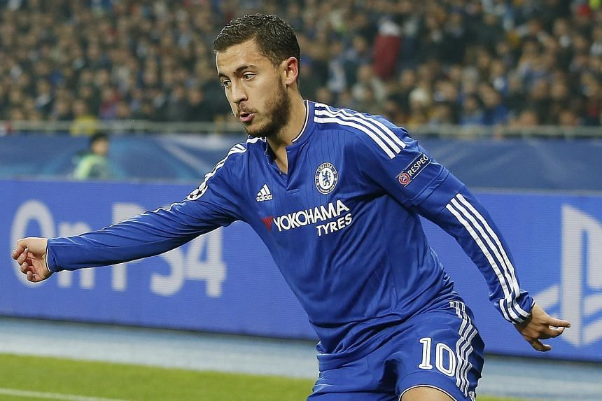 Eden Hazard playing against Dynamo Kiev in their 0-0 Champions League draw on Tuesday, when he returned to the starting line-up after being benched for a drop in form and a lack of defensive work.