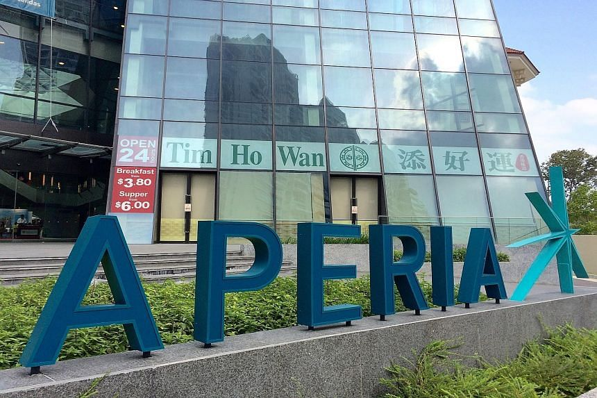 Ascendas Reit reported improved occupancy rates at Aperia (above), a mixed-used development in Kallang, and its commercial building at 40 Penjuru Lane, as well as A-Reit City@Jinqiao, its business park property in Shanghai.
