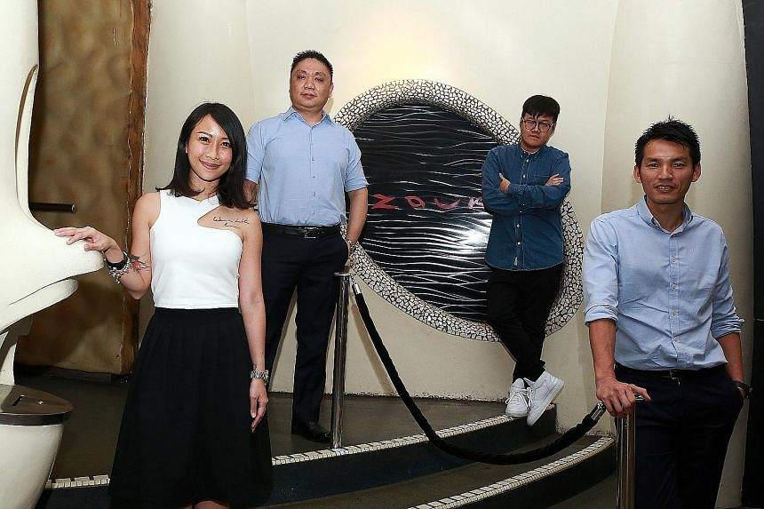 GHK's Mr Andrew Li (above) wants to assure Singaporeans that enough resources would be allocated to expand Zouk. He will be working closely with Zouk Singapore's core team - (from left to far left) Mr Benny Heng, Mr Wayne Lee, Mr Francis Lau and Ms S