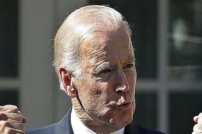 Mr Joe Biden vowed not to remain silent. He also took a swipe at Mrs Hillary Clinton during his speech.