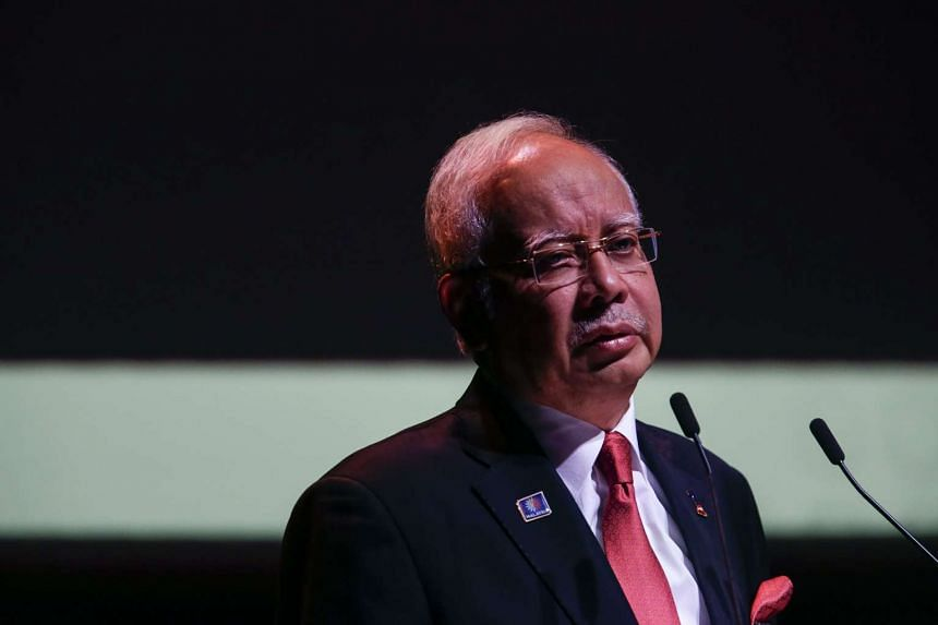 Malaysian Prime Minister Najib Razak speaking at the KL Convention Centre on Oct 21, 2015.