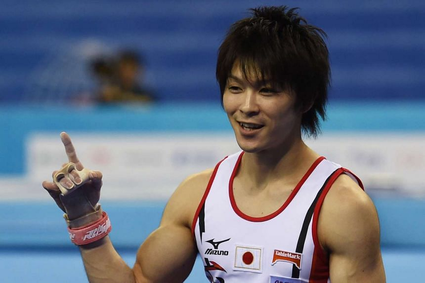 ABOVE: The team gold is the only one missing from Japanese gymnast Kohei Uchimura's huge collection.