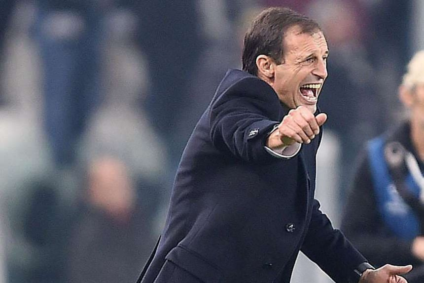 A frustrated Massimiliano Allegri during the 0-0 draw.