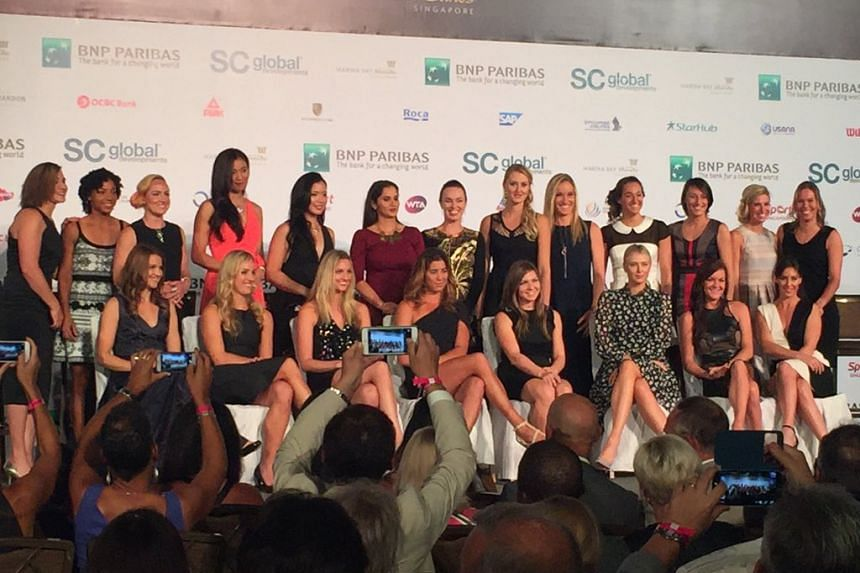 The tennis players who will take part at the WTA Finals Singapore.