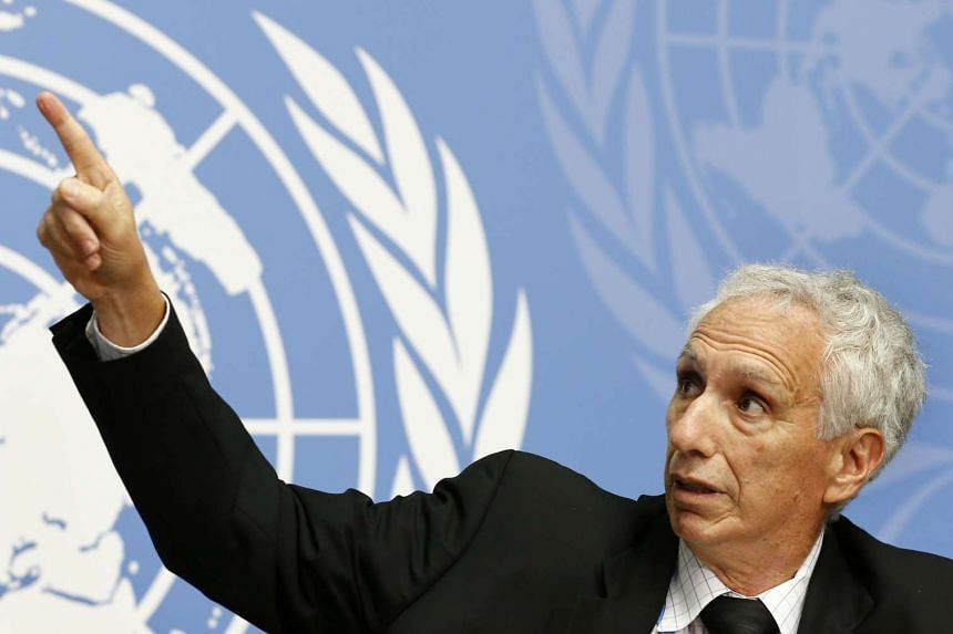 Jon S. Abramson, Chair of the WHO Strategic Advisory Group of Experts (SAGE) on Immunization attends a news conference at the United Nations European headquarters in Geneva, Switzerland, Oct 23, 2015.