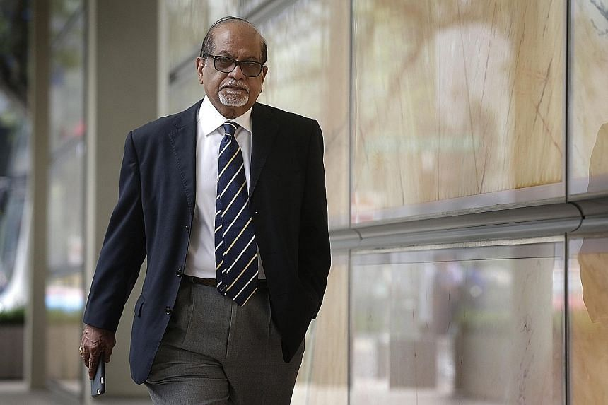 Mr Rengarajoo Rengasamy Balasamy (above) had represented Govindasamy Nallaiah during his graft trial in 2003. Now, Govindasamy is accused of murdering Mr Rengarajoo's wife in anger over a legal fee dispute.