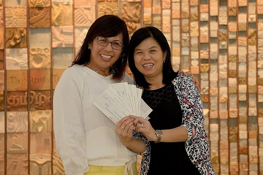 Dr Janice Khoo (left), a general practitioner at Rafflesian Clinic & Surgery at Novena Medical Centre and a former national golfer, raised $30,055 for The Straits Times School Pocket Money Fund (SPMF) at last month's ST Run at the Hub. Here, SPMF gen
