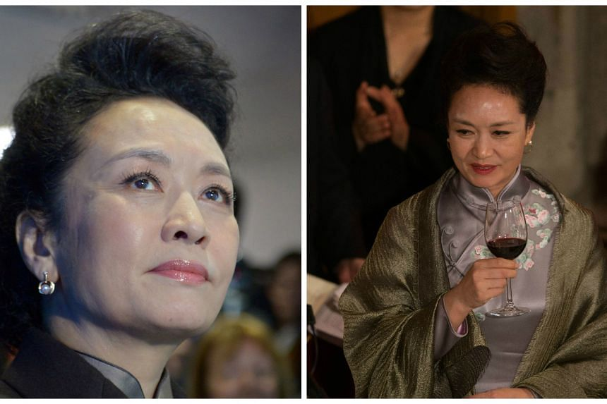 Madam Peng at Imperial College London (left) and the Guildhall banquet (right).