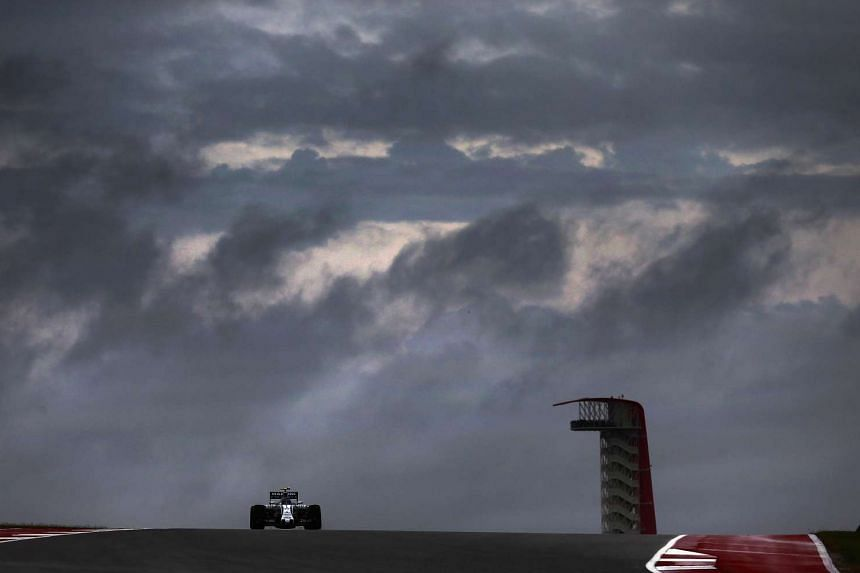 Valtteri Bottas of Finland and Williams drives during practice for the US Grand Prix.