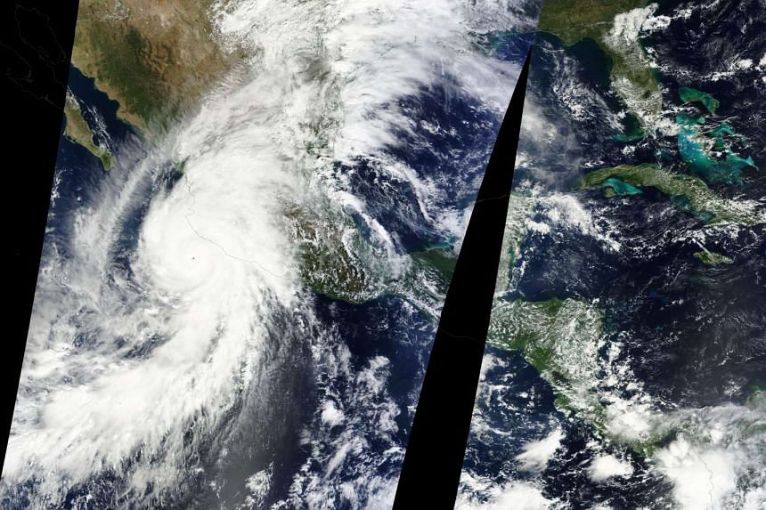 Hurricane Patricia approaches the western coast of Mexico in this October 23, 2015 NASA handout satellite image.