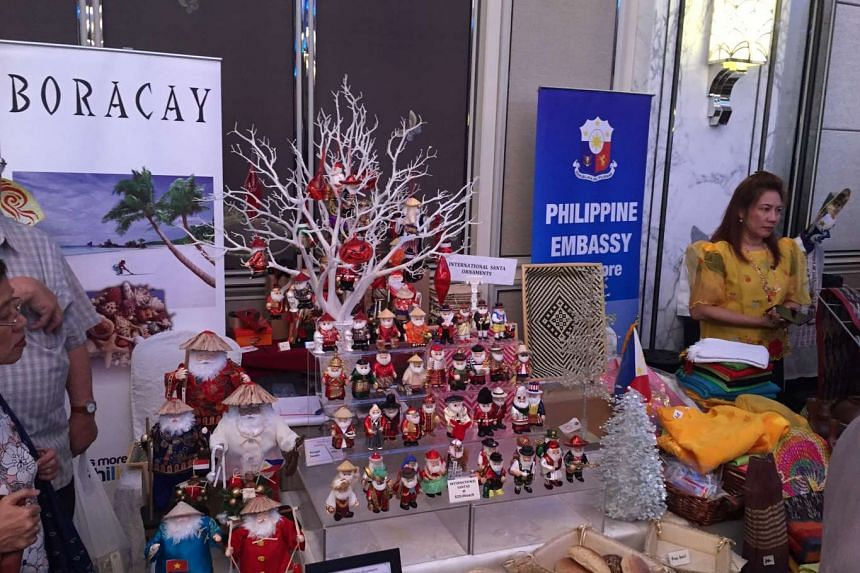 Handicrafts for sale by the Philippine Embassy at the Diplomatic Charity Bazaar.