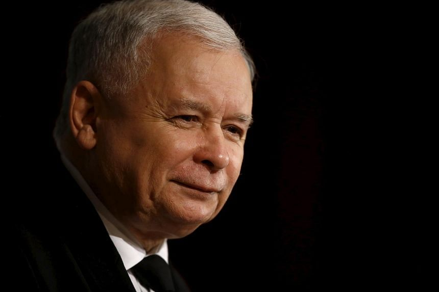 Poland's main opposition party Law and Justice's leader Jaroslaw Kaczynski smiles during his speech at the parliamentary election meeting with citizens of Torun, Poland on Oct 21, 2015.