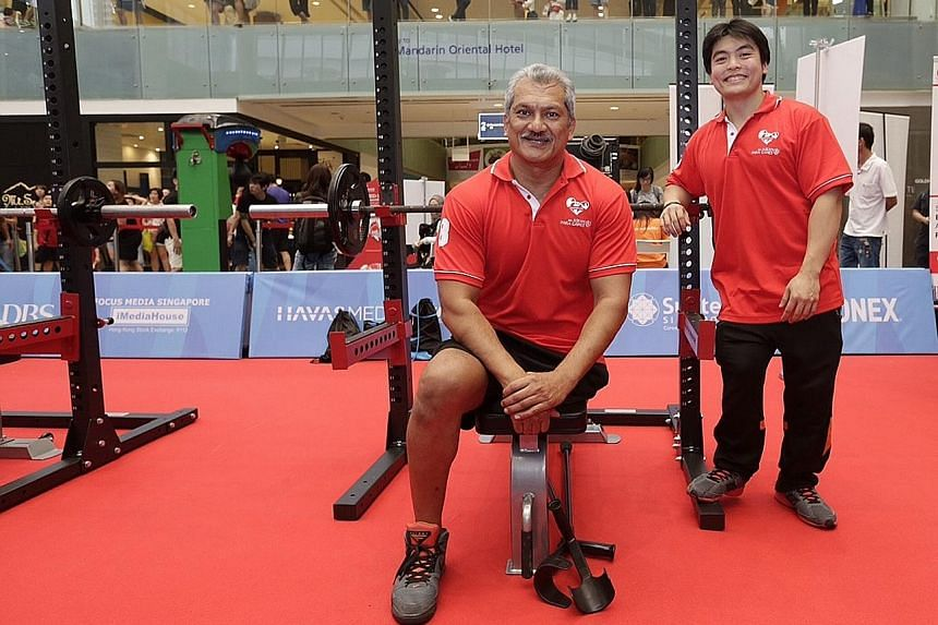 Kalai Vanen (left) and Melvyn Yeo are confident of shining at the Asean Para Games. They hope to inspire others with disabilities to get into sports.