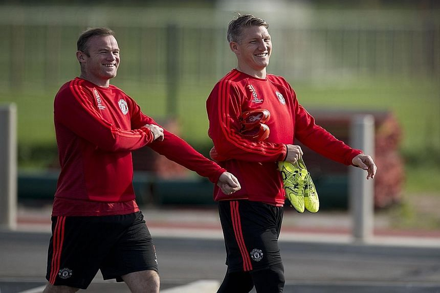 While the Englishman Wayne Rooney (far left) is the top scorer in Manchester derbies, German World Cup winner Bastian Schweinsteiger is relishing making his debut in the white-hot atmosphere of one.