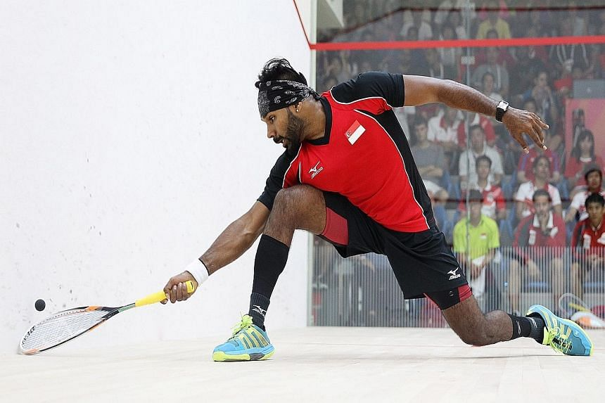 Vivian Rhamanan at the SEA Games. He will be making his PSA debut in Australia, starting with the Mackay Open on Friday.