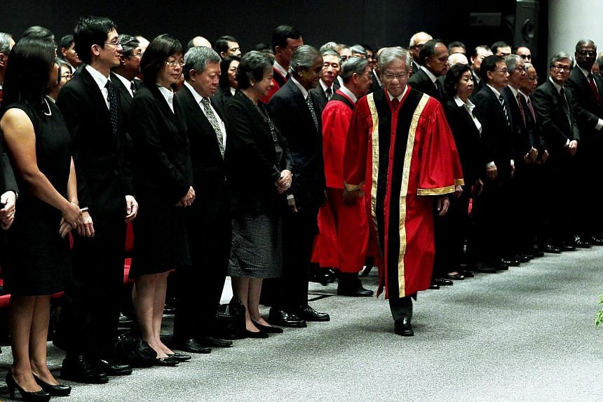 Then Chief Justice Chan Sek Keong at the opening of Singapore's legal year in 2011. CJ Chan took rights seriously and went to great pains to explain why constitutional rights are important as he sought to balance individual rights against public inte