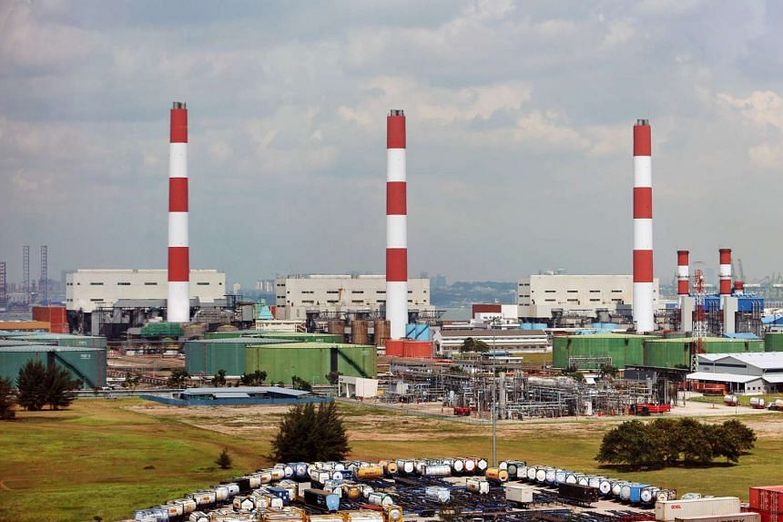 Singapore's Pulau Seraya Power Station, which is located offshore on Jurong Island.