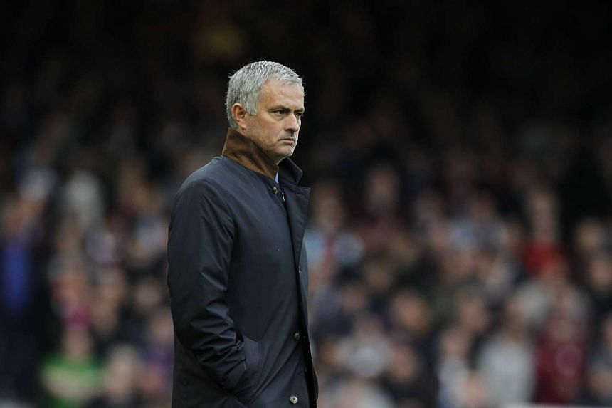 Jose Mourinho is pictured during the English Premier League football match between West Ham United and Chelsea.