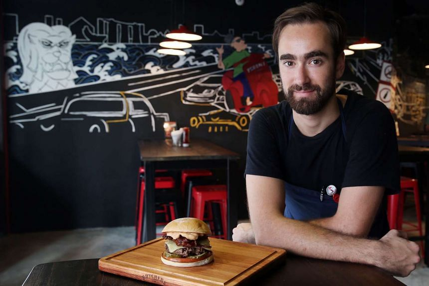 Do not worry about making a mess when eating a burger, says chef Matthew Dick of newly opened The Butchers Club Burger in Clarke Quay.