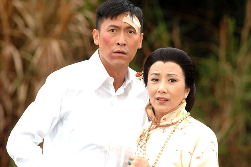 Television still of When Easterly Showers Fall On The Sunny West starring Liza Wang (right).