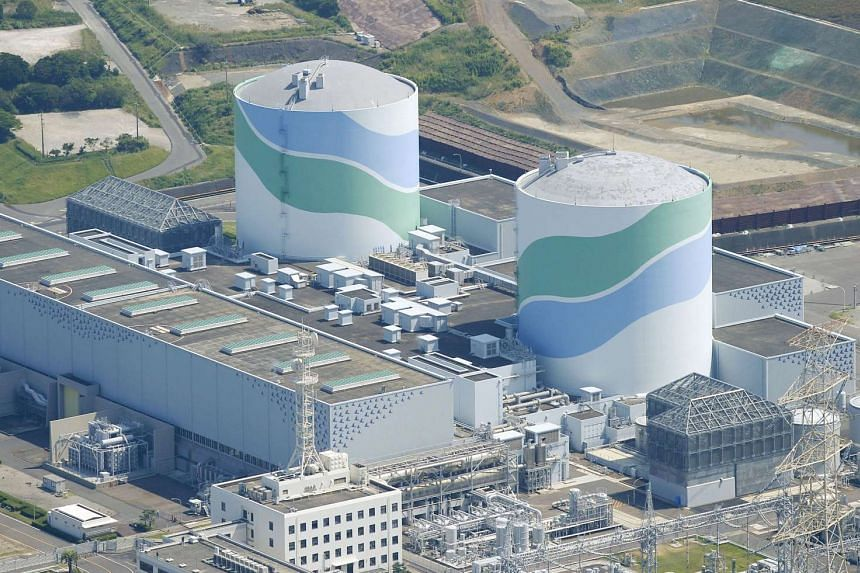The No.1 and No.2 reactor buildings at Kyushu Electric Power's Sendai nuclear power station in Satsumasendai, Kagoshima prefecture, Japan.