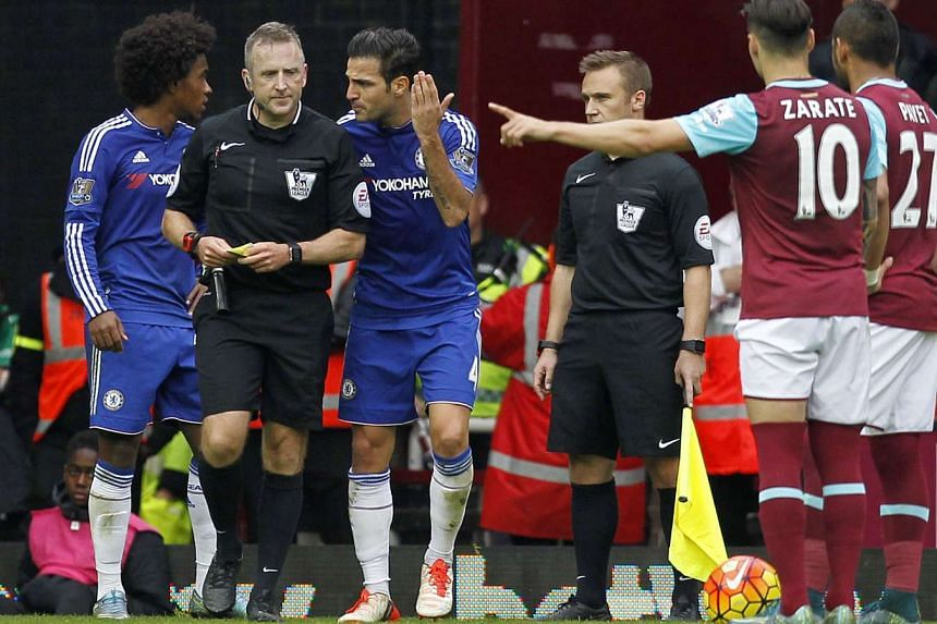 Chelsea will be fined £25,000 (S$53,430) for three disciplinary incidents that occurred in Saturday's match with West Ham United.