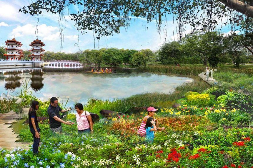 An artist's impression of Jurong Lake Gardens.