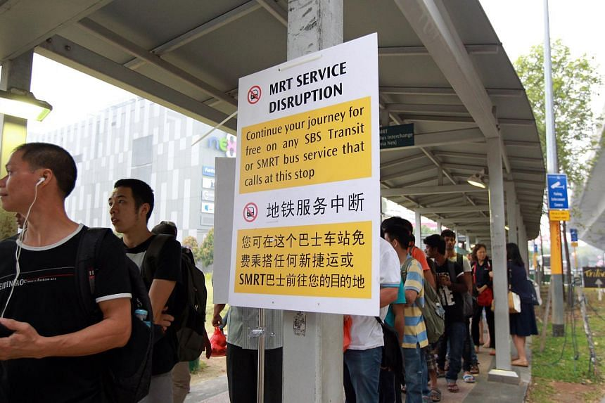 The North-East Line service was disrupted for two hours on Monday (Oct 26) morning.