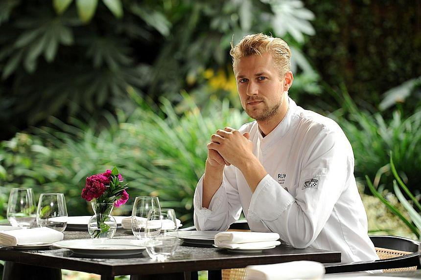 Joris Bijdendijk has brought some of his ingredients to incorporate into his signature dishes.