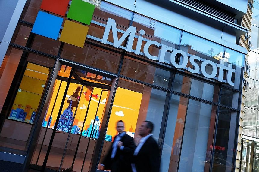 Microsoft, which has its own server farms, reported sales and profit that beat estimates.