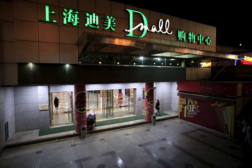 The Shanghai Di Mei (Dmall) shopping centre in downtown Shanghai on Oct 20, 2015.
