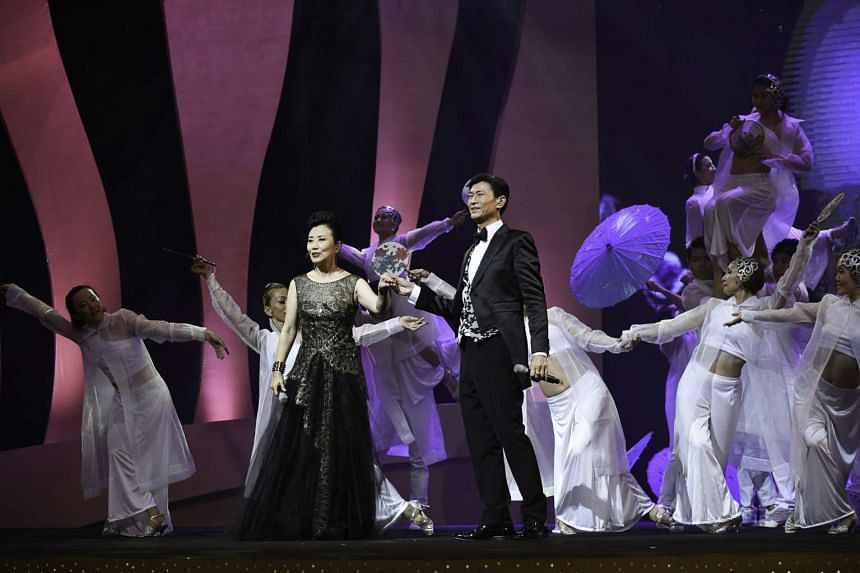 Liza Wang and Adam Cheng (both above) received the inaugural Star of the Stars, among other awards.