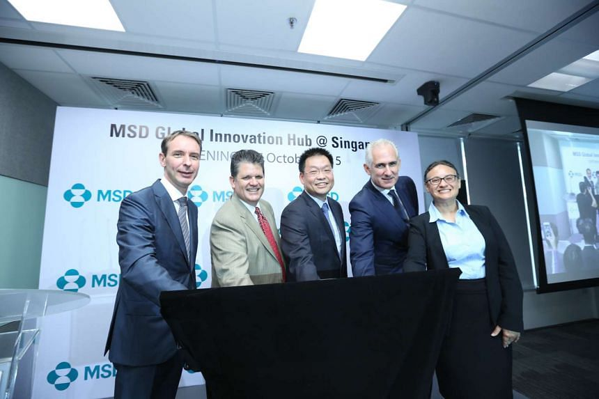 Heathcare firm MSD officially opened its S$8 million Global Innovation Hub in the one-north district on Tuesday (Oct 27).