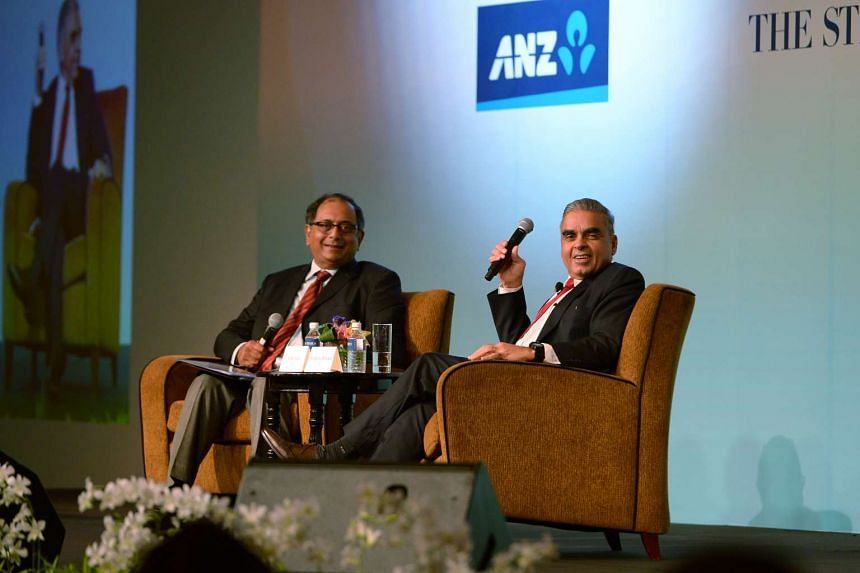 ST foreign editor Ravi Velloor (left) and Professor Kishore Mahbubani at The Straits Times Global Outlook Forum yesterday. Prof Mahbubani said an Asian resurgence did not mean a return to the days of export-led, double-digit growth but rather to the