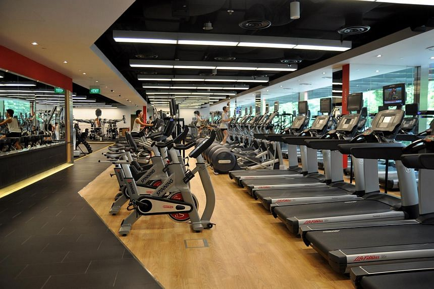The Pure Fitness gym at Knightsbridge mall in Orchard.