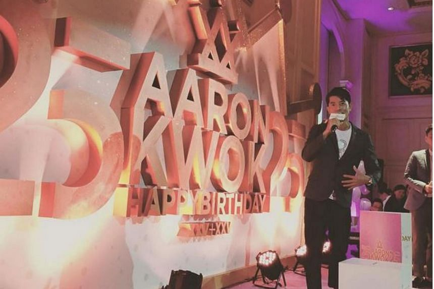 Aaron Kwok, the Heavenly King, whose birthday was on Oct 26, celebrated turning the big 5-0 in a 25+25 party on Sunday, which also marked his 25th anniversary in showbiz.