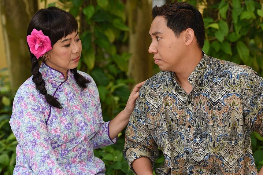Eugene Tay and Audrey Tan (both left) play lovers in a Peranakan comedy